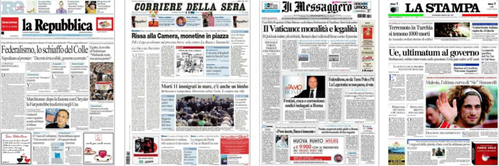 włoska prasa włoskie dzienniki