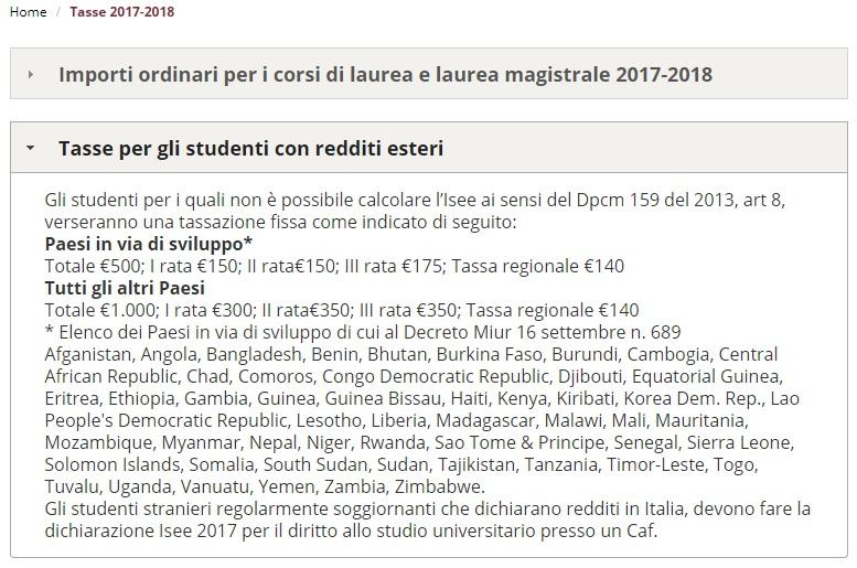 isee studia we Włoszech