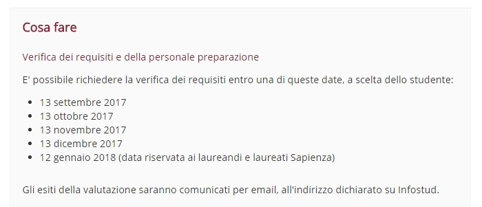 studia we włoszech-terminy