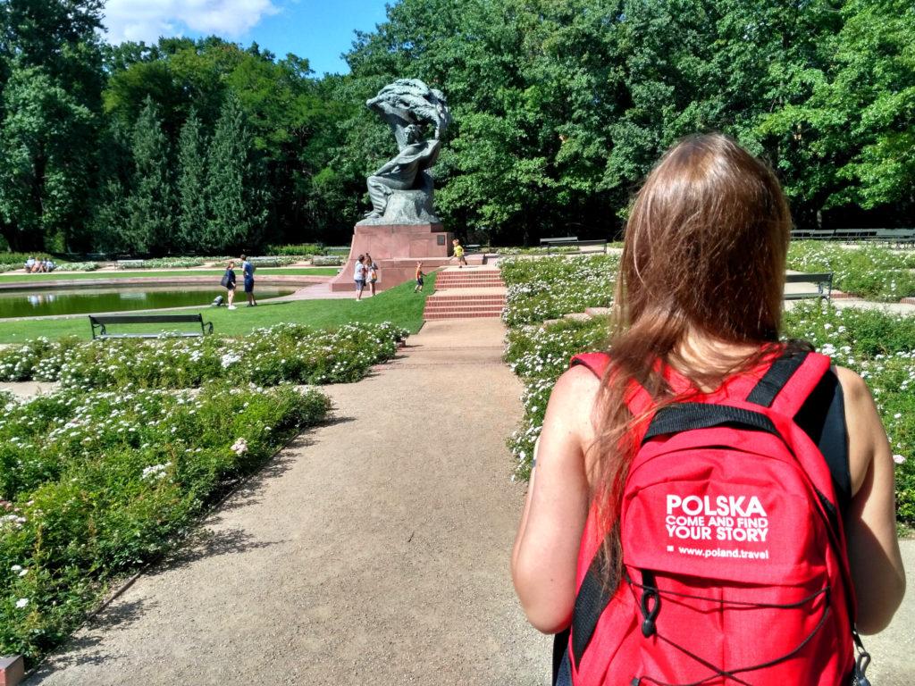 Warszawa Łazienki Pomnik Chopina