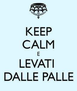 levati dalle palle co to znaczy