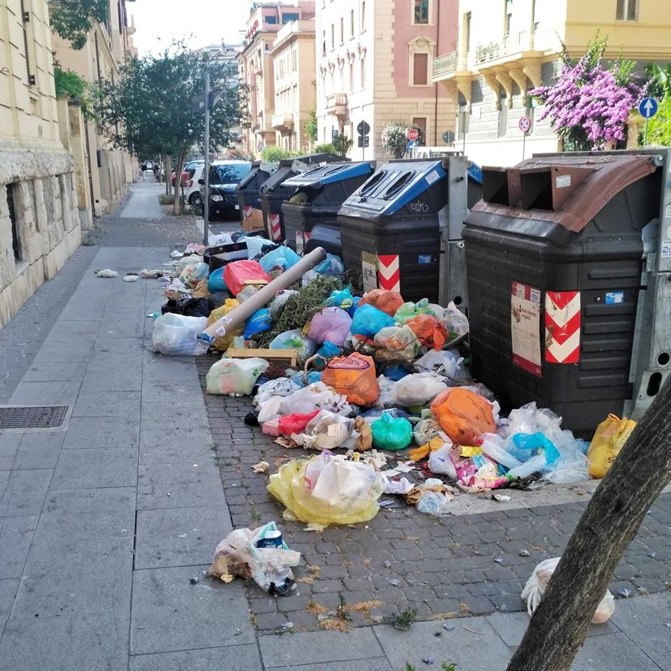 Śmieci w Rzymie Włochy