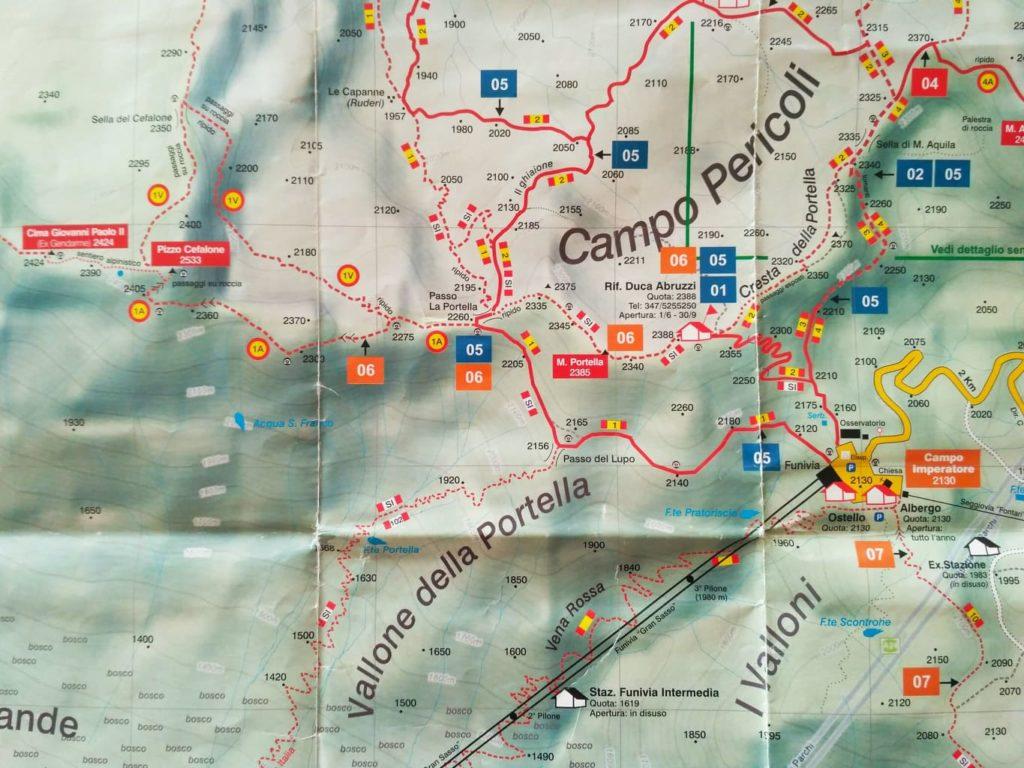 Fragment mapy Gran Sasso wydawnictwa Technopress Edizioni (2018)