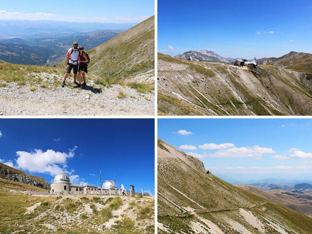 Trasa na Pizzo Cefalone z Campo Imperatore Gran Sasso Abruzja Włochy