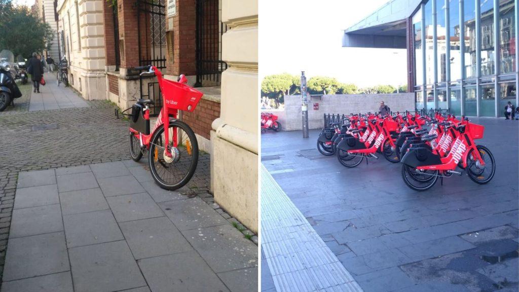 rowery miejskie uber jump rzym włochy